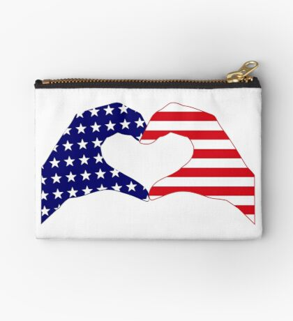 We Heart the United States of America Patriot Series Zipper Pouch