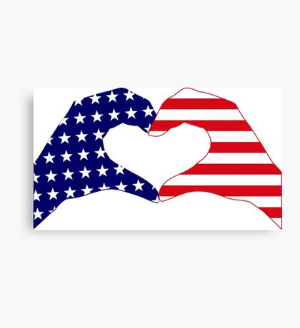 We Heart the United States of America Patriot Series Canvas Print