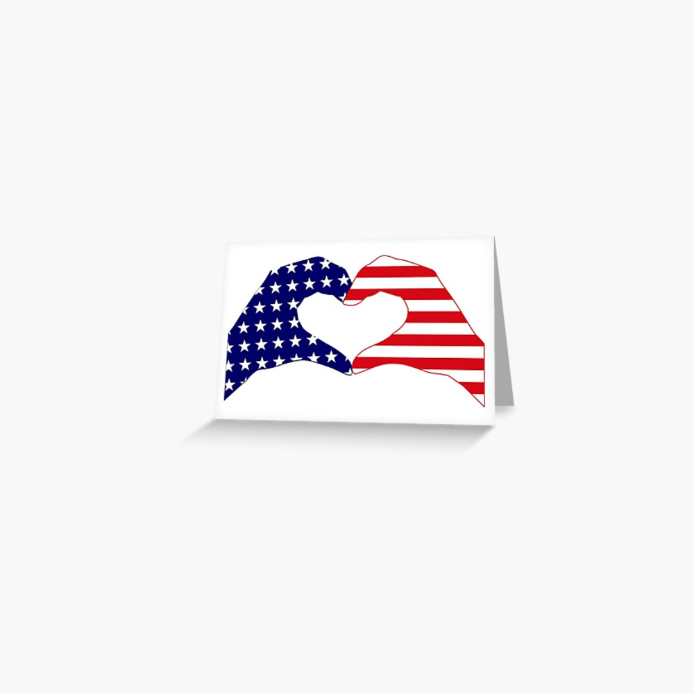 We Heart the United States of America Patriot Series Greeting Card