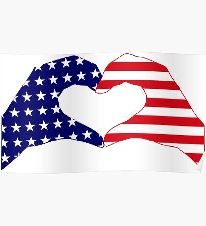 We Heart the United States of America Patriot Series Poster