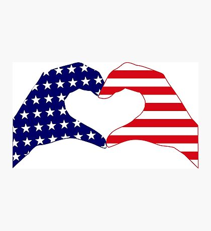 We Heart the United States of America Patriot Series Photographic Print