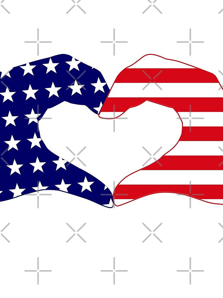 We Heart the United States of America Patriot Series by carbonfibreme