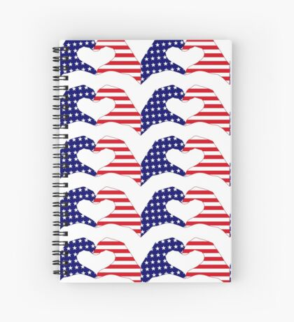 We Heart the United States of America Patriot Series Spiral Notebook
