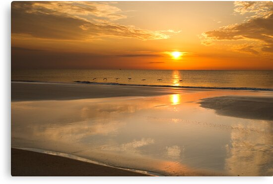 Reflections Of A Sunrise by Jim Haley