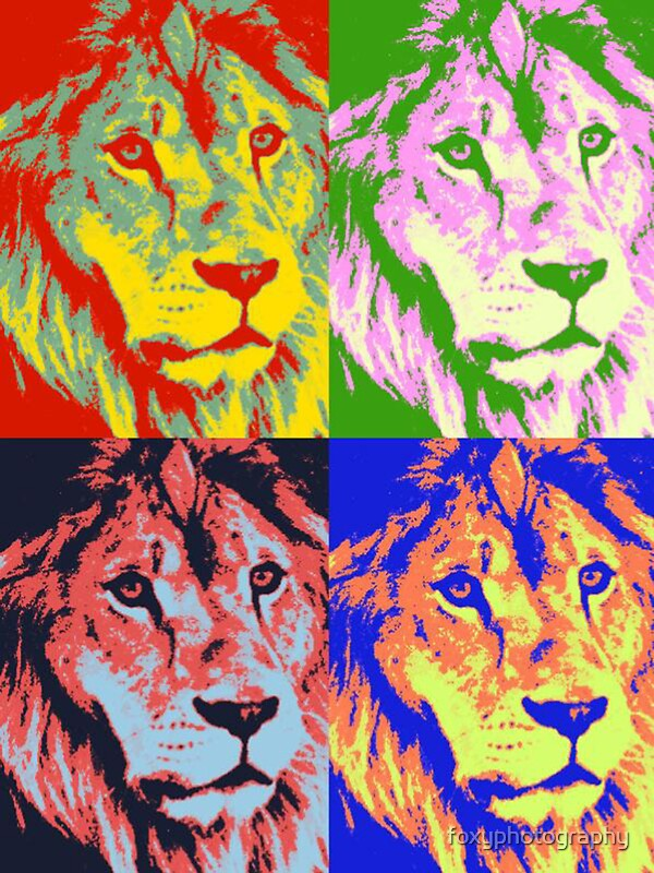 Quot Lion Pop Art Quot Stickers By Foxyphotography Redbubble