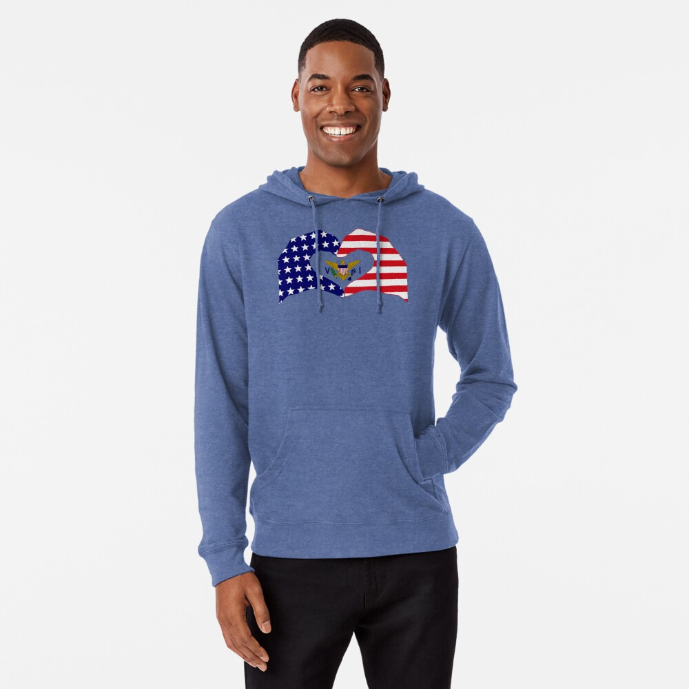 We Heart U.S. Virgin Islands Patriot Series Lightweight Hoodie