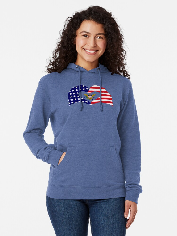 Alternate view of We Heart U.S. Virgin Islands Patriot Series Lightweight Hoodie