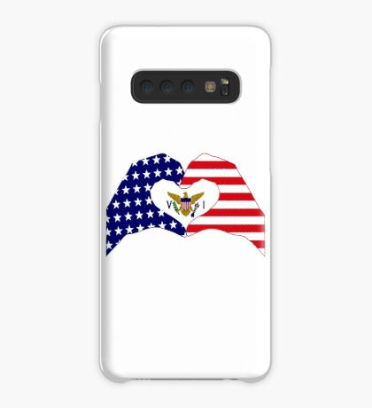We Heart U.S. Virgin Islands Patriot Series Case/Skin for Samsung Galaxy