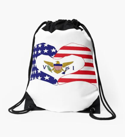 We Heart U.S. Virgin Islands Patriot Series Drawstring Bag