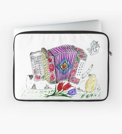 Vintage Akkordeon Laptoptasche