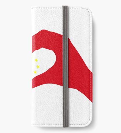 We Heart China Patriot Flag Series iPhone Wallet