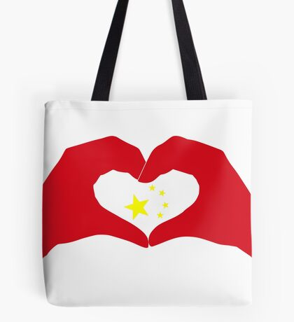 We Heart China Patriot Flag Series Tote Bag