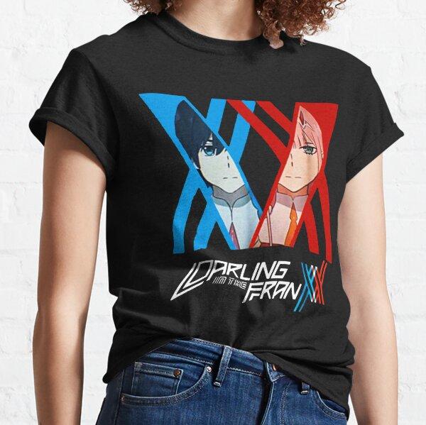 Cariño en el Franxx Zero Two x Hiro Camiseta clásica