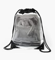 Weeping Angel Drawstring Bag