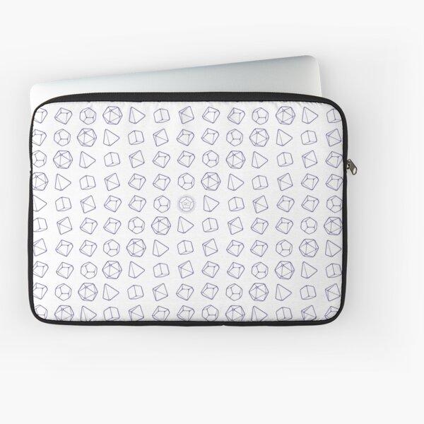 Violet Dice on White Laptop Sleeve