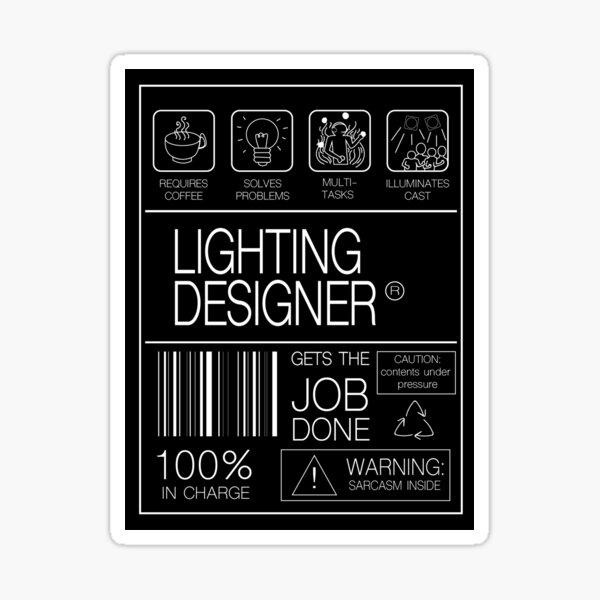 LIGHTING DESIGNER LABEL Sticker