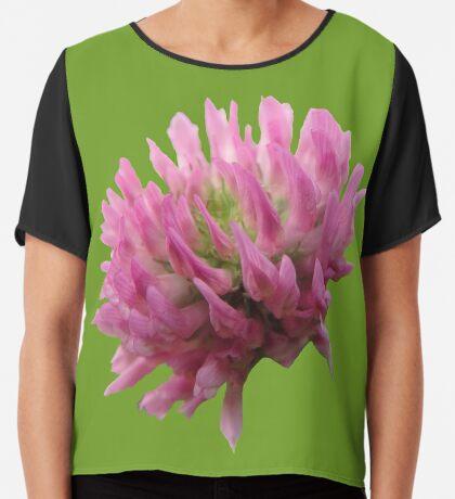wunderschöne Klee-Blüte Chiffontop für Frauen