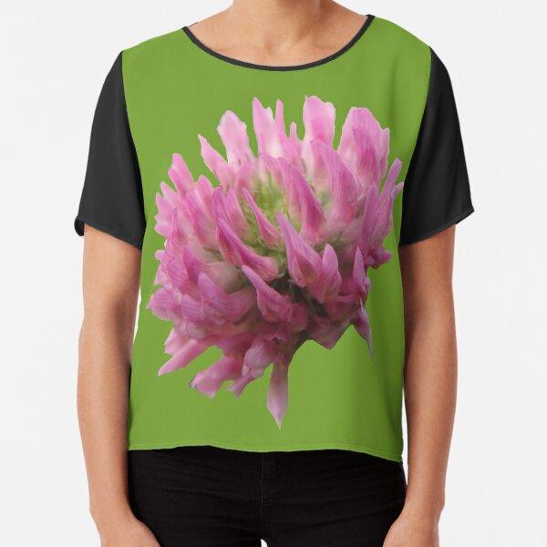 wunderschöne Klee-Blüte Chiffon Top