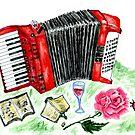 Vintage Akkordeon 2 von AnnArtshock