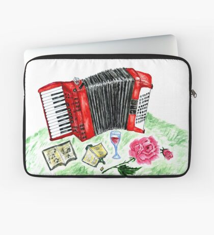 Vintage Akkordeon 2 Laptoptasche