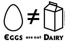 """PATG """"Eggs Are Not Dairy"""" by DoomsDayDevice"""