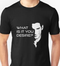 Lucifer Morningstar What Is It You Desire Unisex T-Shirt