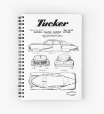 Tucker Automobile Patent Black Spiral Notebook