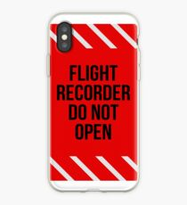 Flight Recorder Do not open iPhone Case