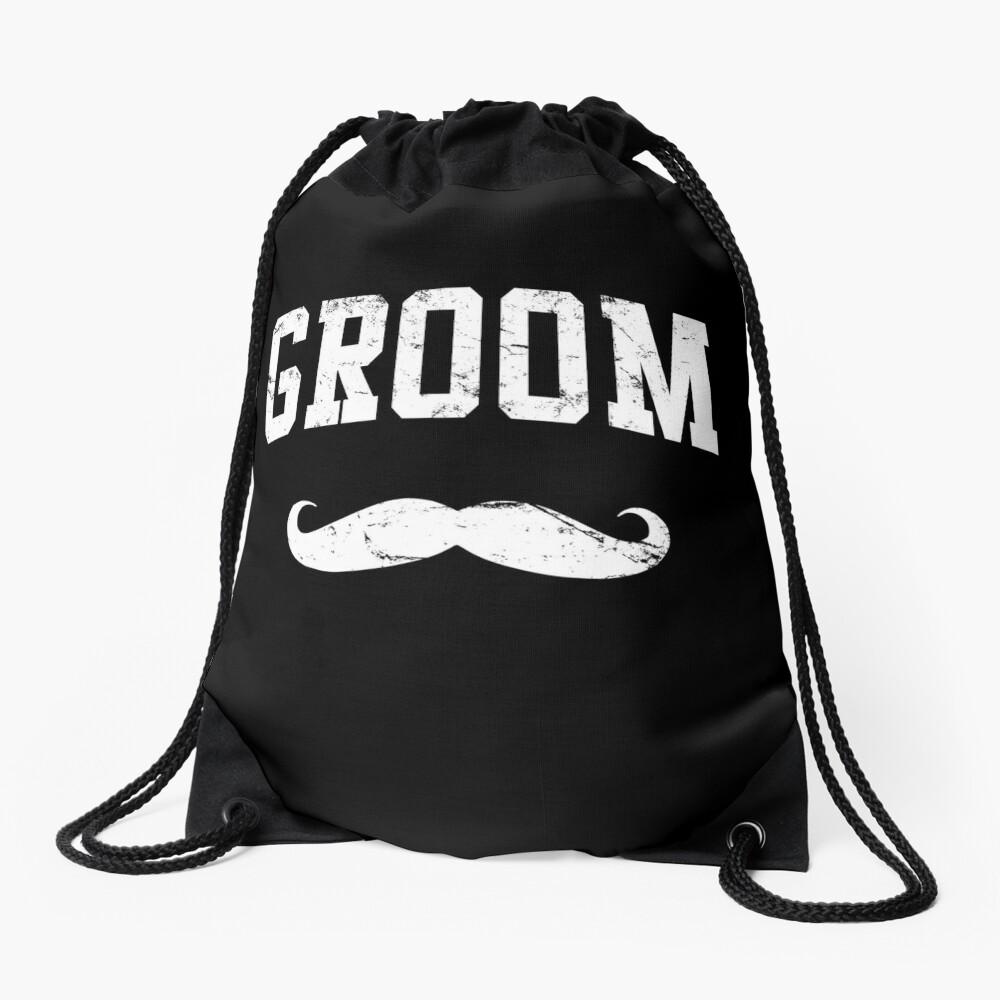 Groom Shirt Drawstring Bag Front
