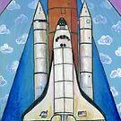 Mid Century Modern Space Shuttle by chromaddict