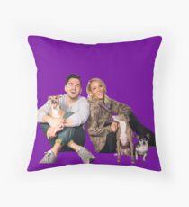 Jenna, Julien And Doggies Throw Pillow