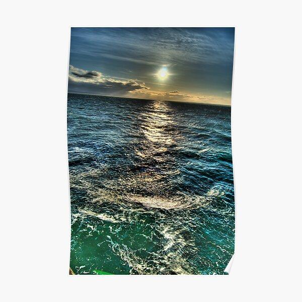 Turbulent Sunset over Georgia Strait Poster