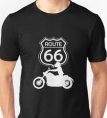 Route 66 travel patch for motorcycle fans Unisex T-Shirt