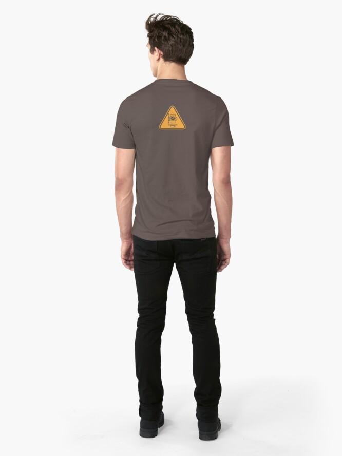 Alternate view of Panorama Head splotchdog support shirt Slim Fit T-Shirt