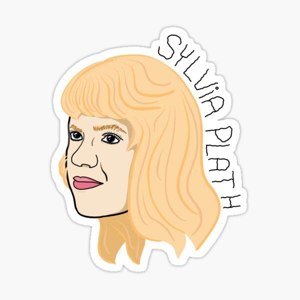 Sylvia Plath Portrait Sticker