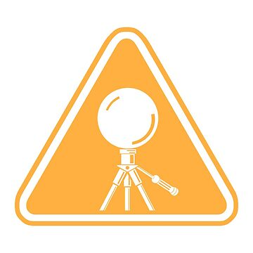 Mirror Ball Warning Sign - support splotchdog edition by tischbein3