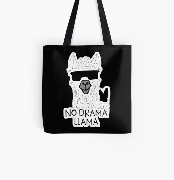 ¡Sin Drama Lama! Bolsa estampada de tela