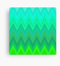 Bright green pips abstract pattern Canvas Print