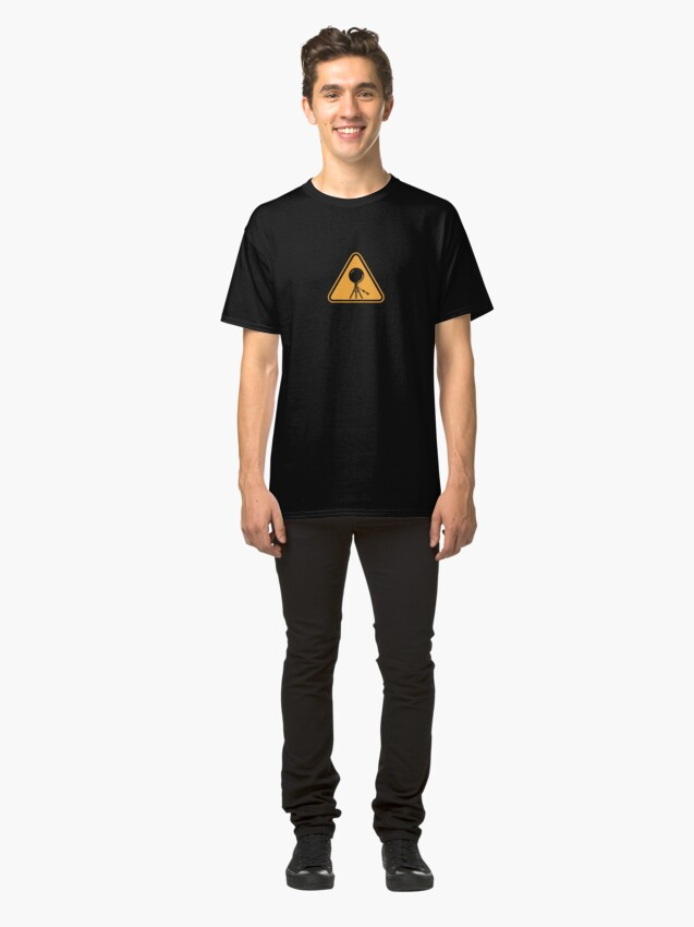Alternate view of Mirror Ball Warning Sign - support splotchdog edition Classic T-Shirt