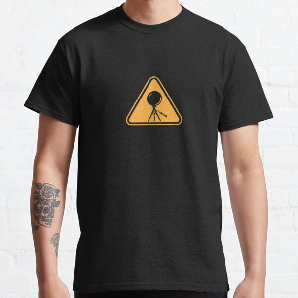 Mirror Ball Warning Sign - support splotchdog edition Classic T-Shirt
