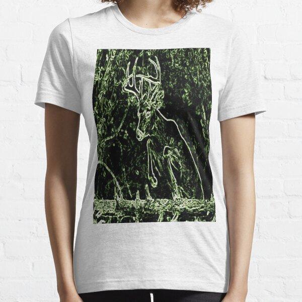 Green Buck Jumping Essential T-Shirt