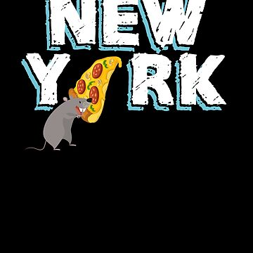 Pizza Rat New York City by hackershirtsio