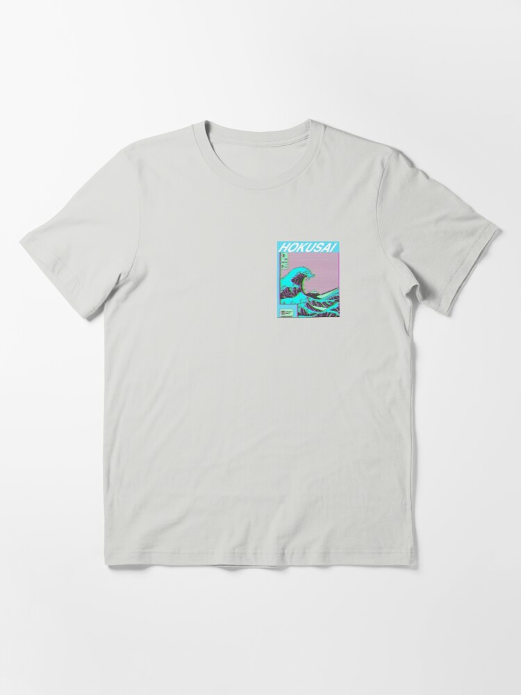 Alternate view of The Great Wave off Kanagawa - Hokusai - Edited Essential T-Shirt