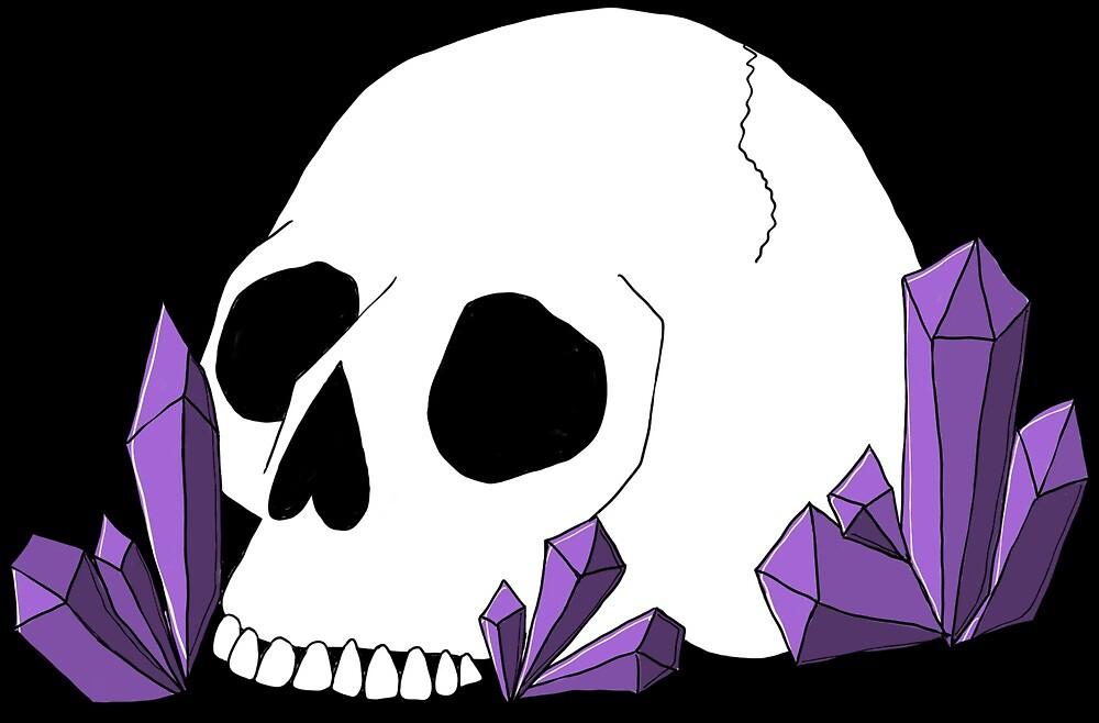 amethyst skull by kellylugosisart