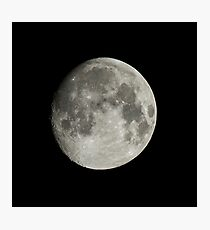 Nearly-full Moon Photographic Print