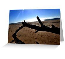 White Sun Rising Greeting Card