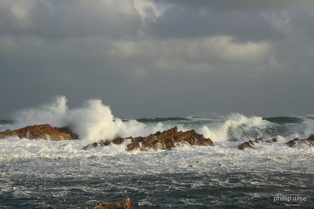 Wild Seas at Temma on West Coast Tasmania , Australia by phillip wise