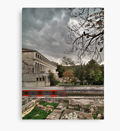 Haunted train Canvas Print