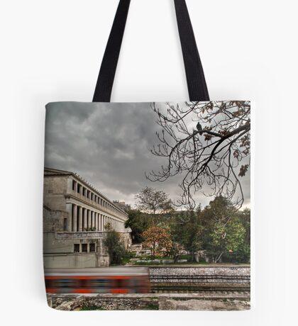 Haunted train Tote Bag