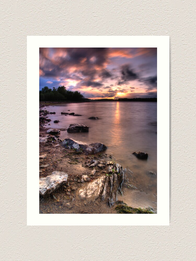 Alternate view of Colt Crag sunset Art Print